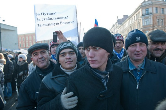 2012-02-18 MEETING SUPPORT PUTIN, LIGOVSKY, BKZ OKTYABRSKY