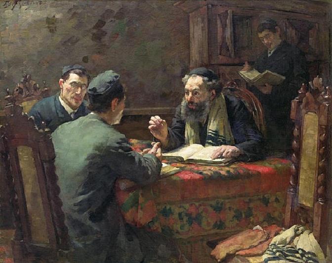 Frankfort, Eduard. A Theological Debate, 1888